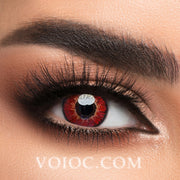 Voioc® Eye Circle Lens Elf Red Naruto Sharingan Colored Contact Lenses V6142 - Voioc.com