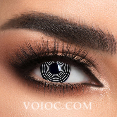 Voioc® Eye Circle Lens Black spiral Special Effect Colored Contact Lenses V6144 - Voioc.com