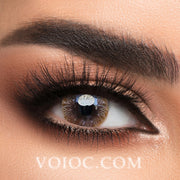 Voioc® Eye Circle Lens Calendula Brown Hazel Colored Contact Lenses V6146 - Voioc.com