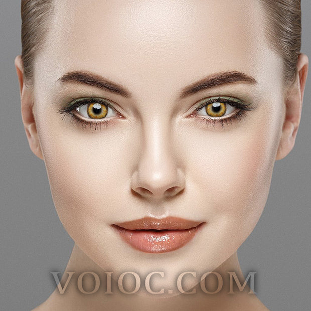 Voioc® Eye Circle Lens Radial Brown Colored Contact Lenses V6147 - Voioc.com