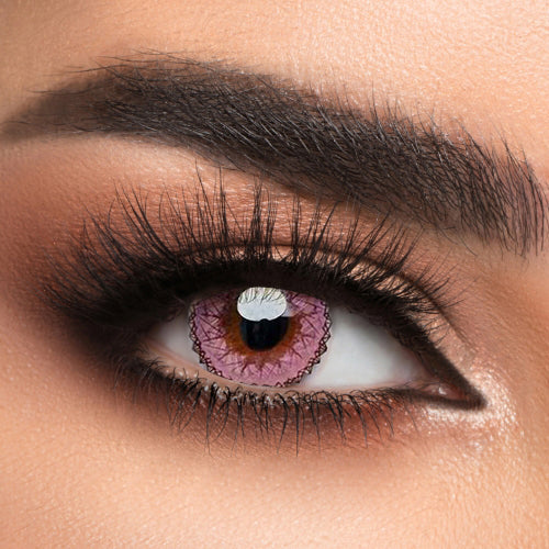 Voioc® Eye Circle Lens Muse Pink Colored Contact Lenses V6149 - Voioc.com