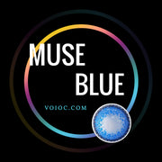 Voioc® Eye Circle Lens Muse Blue Colored Contact Lenses V6152 - Voioc.com
