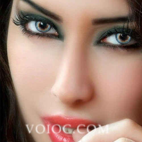 Voioc® Eye Circle Lens Pony Blue Astigmatism Colored Contact Lenses V6171