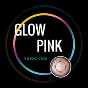 Voioc® Eye Circle Lens Glow Pink Colored Contact Lenses V6177 - Voioc.com