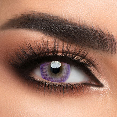 Voioc® Eye Circle Lens Donut Purple Colored Contact Lenses V6203 - Voioc.com