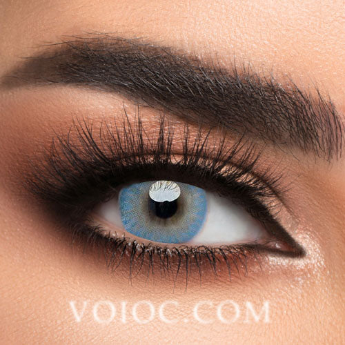 Voioc® Eye Circle Lens Donut Blue Colored Contact Lenses V6205 - Voioc.com
