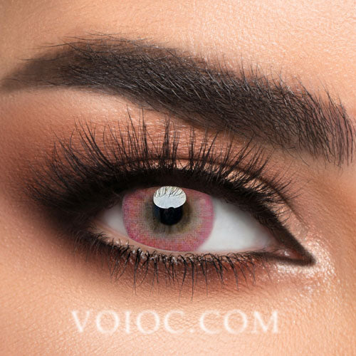Voioc® Eye Circle Lens Donut Pink Colored Contact Lenses V6206 - Voioc.com
