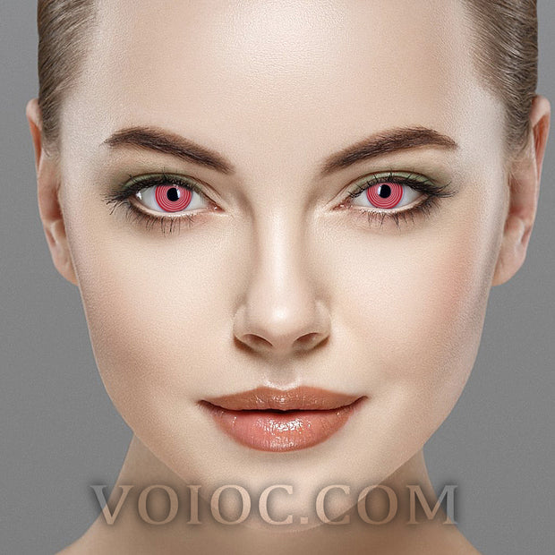 Voioc® Eye Circle Lens Red Spiral Special Effect Colored Contact Lenses V6221 - Voioc.com