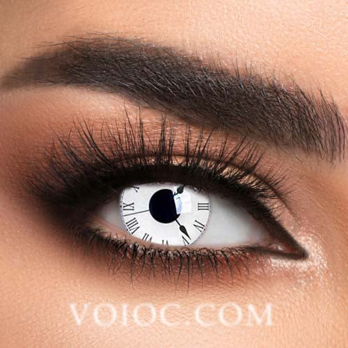 Voioc® Eye Circle Lens Tick Tock Special Effect Colored Contact Lenses V6225 - Voioc.com