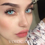 Voioc® Eye Circle Lens White Ice Special Effect Colored Contact Lenses V6228 - Voioc.com