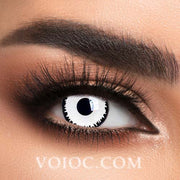 Voioc® Eye Circle Lens White Zombie Special Effect Colored Contact Lenses V6229 - Voioc.com