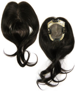 black hair topper untrimmed