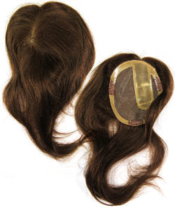 brown hair topper untrimmed