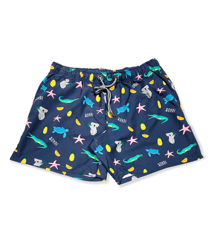 NAVY TWO TONE ADULT SHORTS