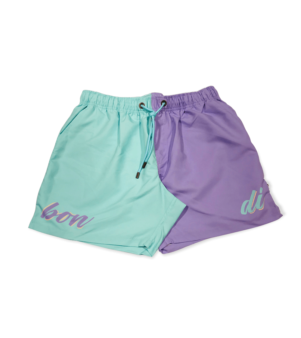 PURPLE TWO TONE ADULT SHORTS