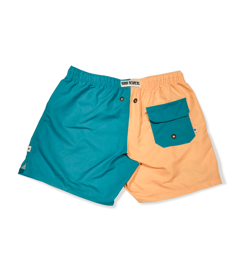 TEAL TWO TONE ADULT SHORTS