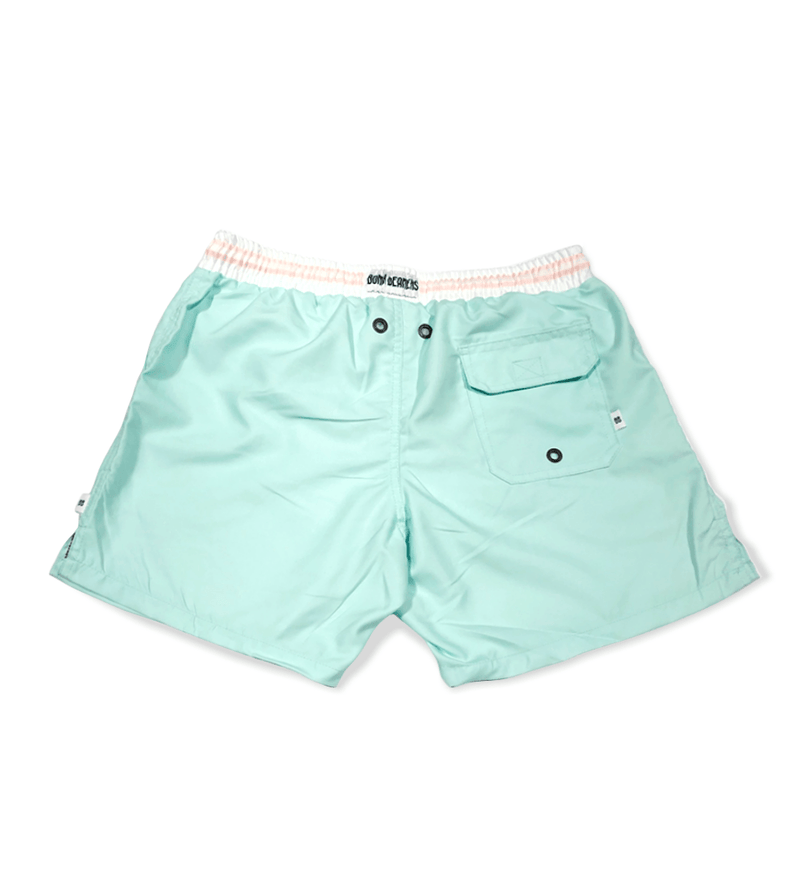 MINT PINK WAISTBAND ADULT SHORTS