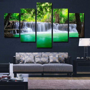 5 Pieces Waterfall Painting Canvas Paint (3 Sizes Available) - HomDecors