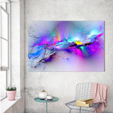 Abstract Colorful Clouds Canvas Print (5 Sizes Available) - HomDecors