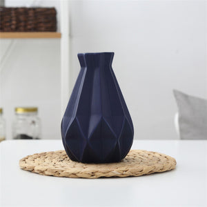 Modern Geometric Ceramic Flower Vase (6 Colors/4 Sizes Available) - HomDecors