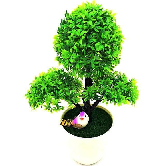 Trigeminal Wreaths Bonsai Artificial Flowers in a White Pot (5 Colors Available) - HomDecors