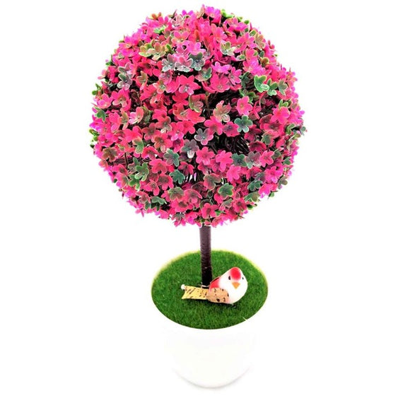 Sakura Bonsai Artificial Plant in a White Pot (8 Colors Available) - HomDecors