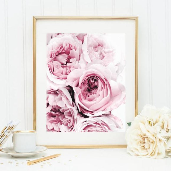 Pink Floral Peony Canvas Print (6 Sizes Available)
