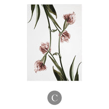 Romantic Nordic Flowers Canvas Paint (3 Types Available) - HomDecors