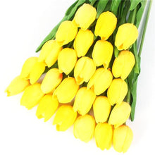 (21 Pieces) Mini Artificial Tulip Flowers (12 Colors Available) - HomDecors