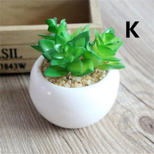 Mini Succulent Artificial Plant in a White Pot (12 Type Available) - HomDecors