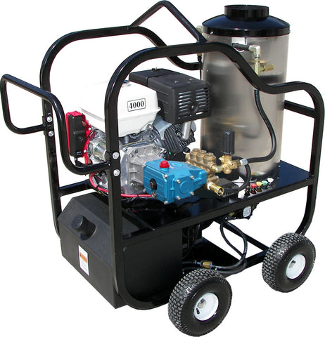"""4012-10C"" 4GPM @ 4000 PSI (Gas - Hot water) Pressure Washer with Honda GX 390 Engine and Cat Pump"