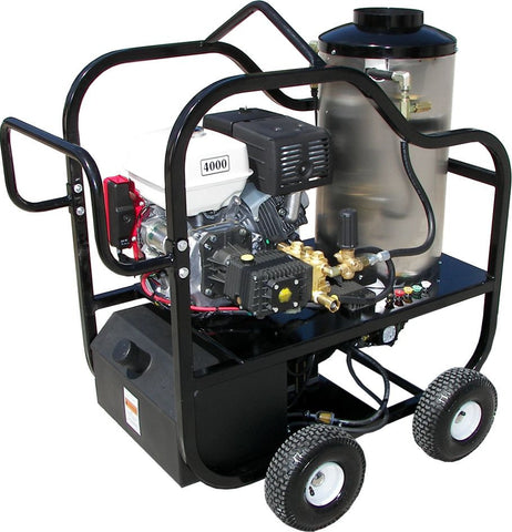 """4012-10G"" 4GPM @ 4200 PSI (Gas - Hot water) Pressure Washer with Honda GX 390 Engine and General Pump"