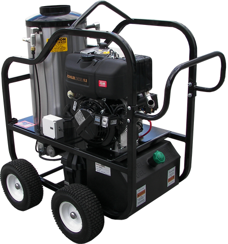 """4012-15C"" 4GPM @ 3200 PSI (Diesel - Hot water) Pressure Washer with Kohler Engine and Cat Pump"