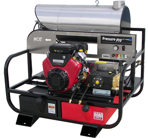 """6115PRO-30VG"" 5.5GPM @ 3000PSI (Gas - Hot Water)  Pressure Washer w/Generator"