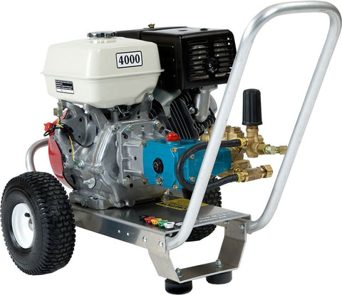 """E4040HCE"" 4GPM @ 4000PSI (Gas - Cold Water) Direct Drive Cat Pump Pressure Washer w/Electric Start"