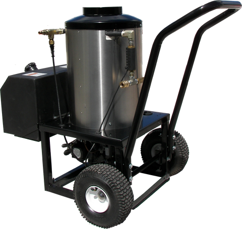 """HBP3115""  3.0GPM @ 4000PSI  Hot Box Portable 2 Wheel 115V  Diesel"