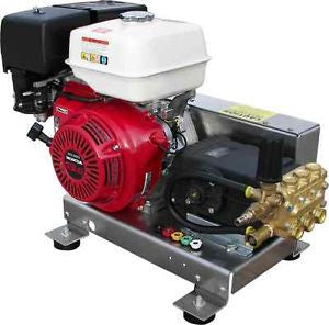 """S-EB4040HG"" 4GPM @ 4000PSI Skid V-Belt Drive General Pump Pressure Washer"
