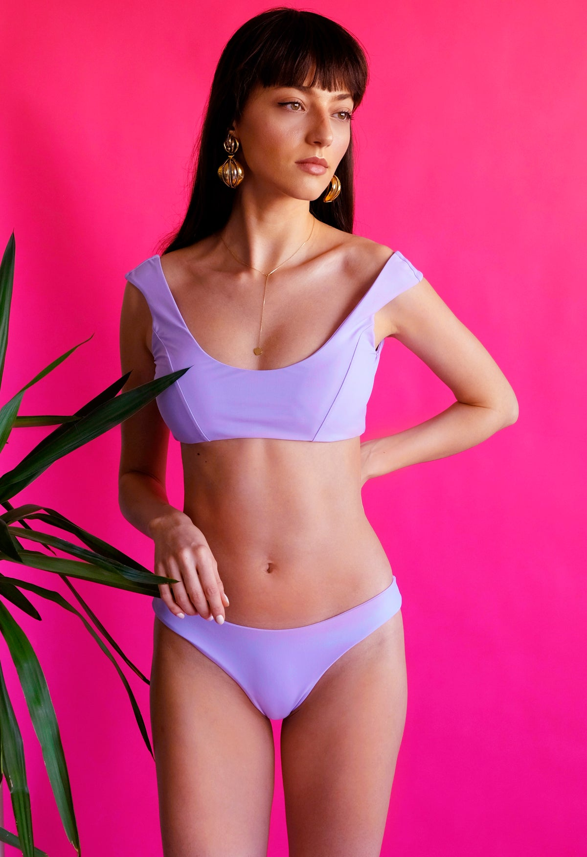 Women's purple bikini eco-friendly swimwear