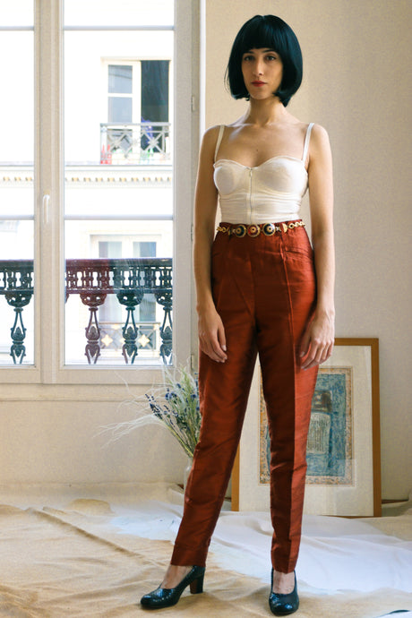 Jean Paul Gaultier Raw Silk Trousers