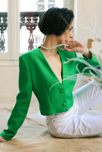 Load image into Gallery viewer, Crazy Green Linen Top