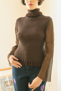 1970 Silk Sleeves Turtleneck