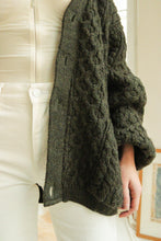 Load image into Gallery viewer, Green Wool Cardigan