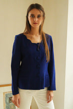 Load image into Gallery viewer, Emmanuelle Khanh Blue Blazer