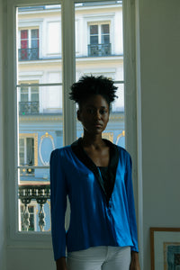 Zanini Blue Silk Blouse