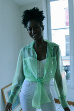Load image into Gallery viewer, Pastel Green Organza Shirt