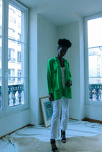 Load image into Gallery viewer, Green Glittery Ferretti Cardigan
