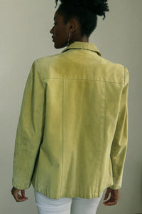 Pistachio Leather Jacket