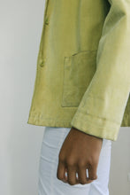 Load image into Gallery viewer, Pistachio Leather Jacket
