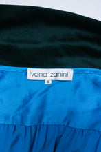 Load image into Gallery viewer, Zanini Blue Silk Blouse