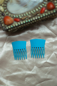 Blue French Combs
